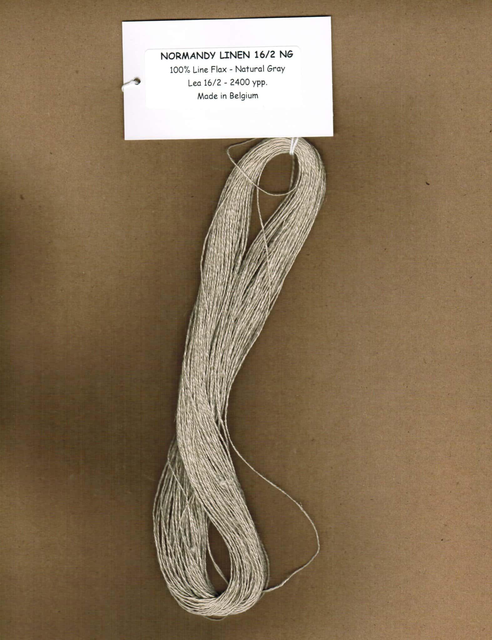 Normandy Linen 16/2, Gray Image